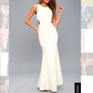 Lulu's white gown